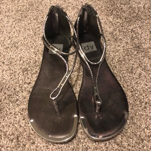 Dolce Vita Silver Sandals, size 7